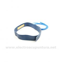 Electrodo cinto para la frente con cable